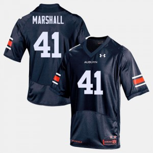 #41 Aidan Marshall Auburn Tigers For Men College Football Jersey - Navy