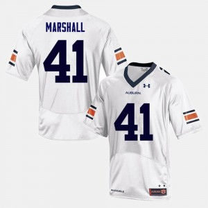 #41 Aidan Marshall Auburn Tigers College Football For Men Jersey - White