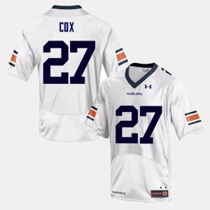 #27 Chandler Cox Auburn Tigers For Men's College Football Jersey - White