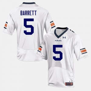 #5 Devan Barrett Auburn Tigers For Men College Football Jersey - White