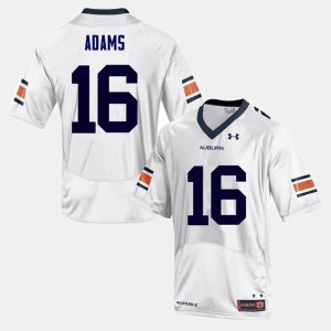 #16 Devin Adams Auburn Tigers College Football Mens Jersey - White