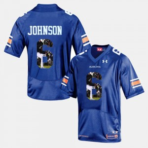 #6 Jeremy Johnson Auburn Tigers Player Pictorial Men's Jersey - Navy Blue