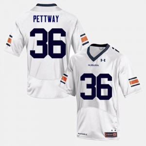 #36 Kamryn Pettway Auburn Tigers For Men's College Football Jersey - White