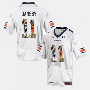 #11 Karlos Dansby Auburn Tigers Men's Player Pictorial Jersey - White