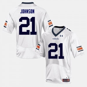 #21 Kerryon Johnson Auburn Tigers For Men College Football Jersey - White