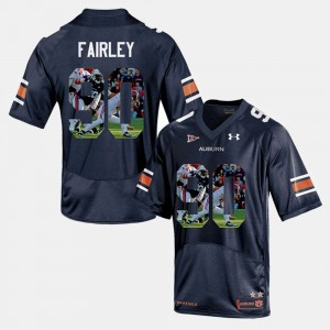#90 Nick Fairley Auburn Tigers Player Pictorial Men Jersey - Navy Blue