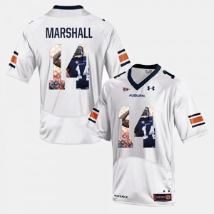 #14 Nick Marshall Auburn Tigers For Men Player Pictorial Jersey - White
