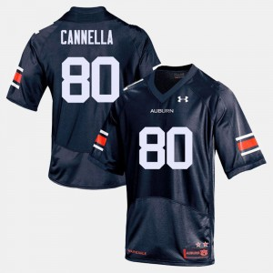 #80 Sal Cannella Auburn Tigers College Football Men's Jersey - Navy