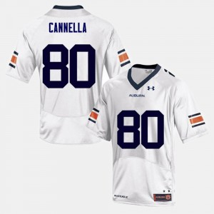 #80 Sal Cannella Auburn Tigers College Football Men Jersey - White