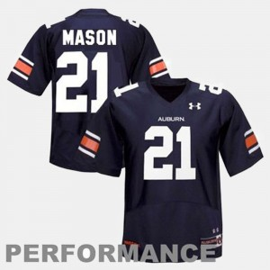#21 Tre Mason Auburn Tigers College Football For Men's Jersey - Blue