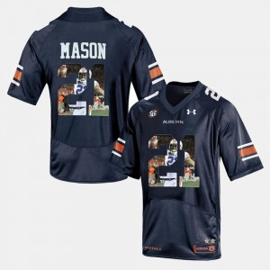 #21 Tre Mason Auburn Tigers Player Pictorial Mens Jersey - Navy Blue