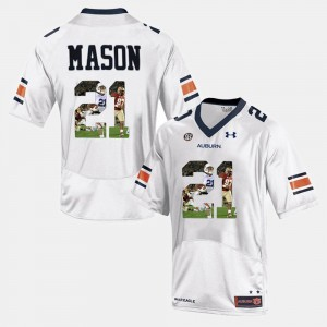 #21 Tre Mason Auburn Tigers Mens Player Pictorial Jersey - White