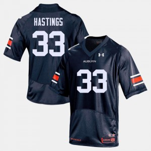 #33 Will Hastings Auburn Tigers Mens College Football Jersey - Navy