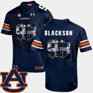 #98 Angelo Blackson Auburn Tigers Pictorial Fashion Men Football Jersey - Navy