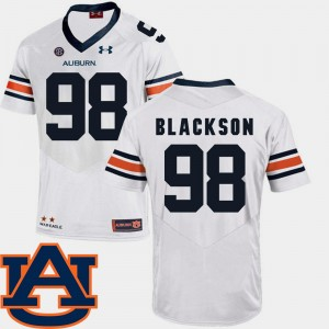 #98 Angelo Blackson Auburn Tigers For Men's SEC Patch Replica College Football Jersey - White