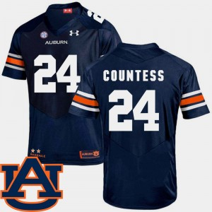 #24 Blake Countess Auburn Tigers College Football SEC Patch Replica Men's Jersey - Navy