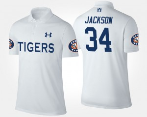 #34 Bo Jackson Auburn Tigers For Men's Polo - White