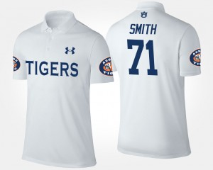 #71 Braden Smith Auburn Tigers For Men Polo - White