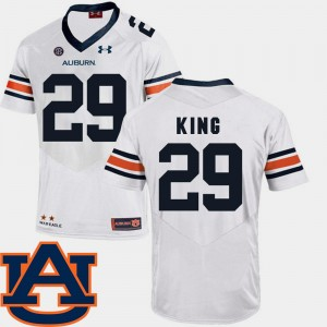 #29 Brandon King Auburn Tigers College Football SEC Patch Replica For Men's Jersey - White