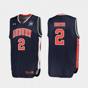 #2 Bryce Brown Auburn Tigers For Men 2019 Final-Four Replica Jersey - Navy