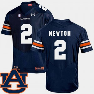 #2 Cam Newton Auburn Tigers College Football For Men SEC Patch Replica Jersey - Navy