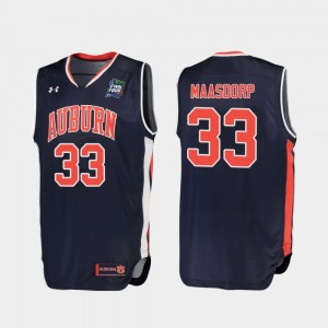 #33 Chase Maasdorp Auburn Tigers Replica 2019 Final-Four For Men Jersey - Navy