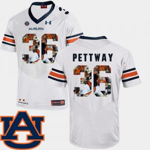 #36 Cody Parkey Auburn Tigers Pictorial Fashion For Men's Football Jersey - White
