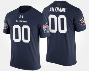 #00 Auburn Tigers For Men's Peach Bowl Bowl Game Customized T-Shirts - Navy