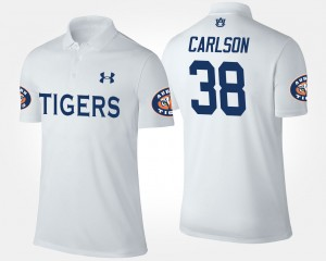 #38 Daniel Carlson Auburn Tigers For Men Polo - White