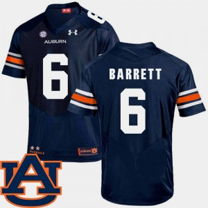 #6 Devan Barrett Auburn Tigers College Football SEC Patch Replica For Men's Jersey - Navy