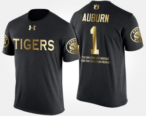 #1 Auburn Tigers Gold Limited For Men No.1 Short Sleeve With Message T-Shirt - Black