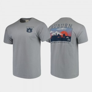 Auburn Tigers Men Comfort Colors Campus Scenery T-Shirt - Gray