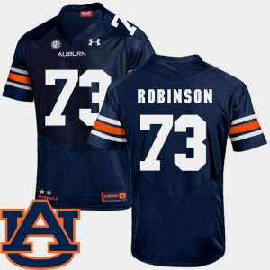 #73 Greg Robinson Auburn Tigers For Men SEC Patch Replica College Football Jersey - Navy