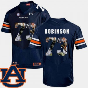#73 Greg Robinson Auburn Tigers Men's Pictorial Fashion Football Jersey - Navy