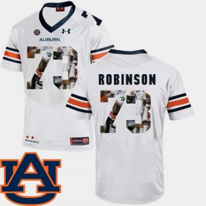 #73 Greg Robinson Auburn Tigers Mens Football Pictorial Fashion Jersey - White