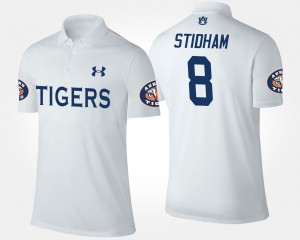 #8 Jarrett Stidham Auburn Tigers Men's Polo - White