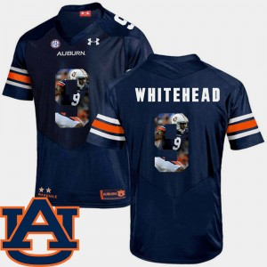 #9 Jermaine Whitehead Auburn Tigers Pictorial Fashion For Men's Football Jersey - Navy