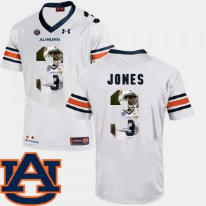 #3 Jonathan Jones Auburn Tigers Pictorial Fashion Men Football Jersey - White