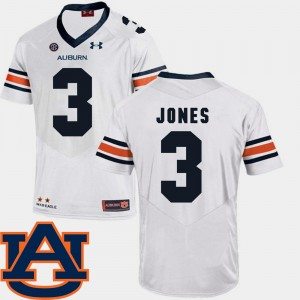 #3 Jonathan Jones Auburn Tigers Mens College Football SEC Patch Replica Jersey - White