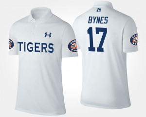 #17 Josh Bynes Auburn Tigers Men's Polo - White
