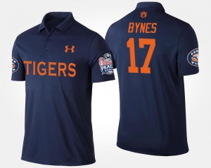 #17 Josh Bynes Auburn Tigers Peach Bowl Bowl Game Men's Polo - Navy