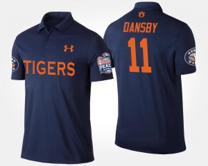 #11 Karlos Dansby Auburn Tigers For Men's Peach Bowl Bowl Game Polo - Navy