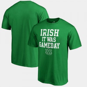 Auburn Tigers St. Patrick's Day Irish It Was Gameday For Men T-Shirt - Kelly Green
