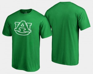 Auburn Tigers White Logo Big & Tall St. Patrick's Day For Men's T-Shirt - Kelly Green