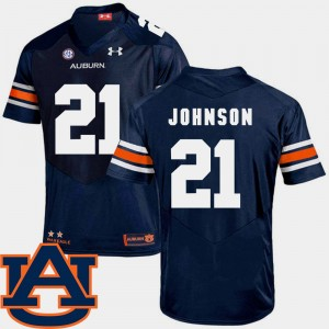 #21 Kerryon Johnson Auburn Tigers College Football SEC Patch Replica For Men's Jersey - Navy