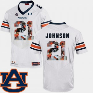 #21 Kerryon Johnson Auburn Tigers Football Pictorial Fashion For Men's Jersey - White