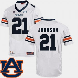 #21 Kerryon Johnson Auburn Tigers SEC Patch Replica College Football For Men Jersey - White