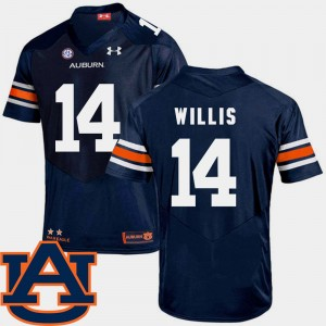 #14 Malik Willis Auburn Tigers SEC Patch Replica College Football Men Jersey - Navy