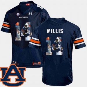 #14 Malik Willis Auburn Tigers Football Pictorial Fashion Men's Jersey - Navy