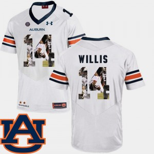 #14 Malik Willis Auburn Tigers Pictorial Fashion Football For Men Jersey - White